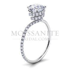 Danhov Abbraccio Swirl Moissanite Engagement Ring--I've always wondered why fake diamonds cost more than real ones.
