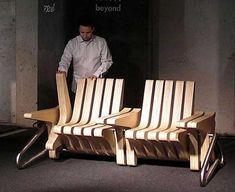 Multifunctional Modern Funiture Design Idea, Coffee Bench by Karolina Tylka