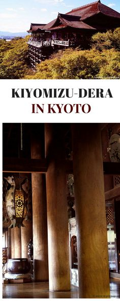 Kiyomizu-dera is a monumental buddhist temple in Kyoto, Japan. It is best known for it's huge wooden stage and belongs to Kyotos many UNESCO World Heritage sites
