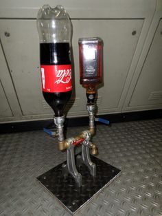Drink Dispenser Idea / I saw this idea on Internet and decided to make my own one from recycled engine parts.
