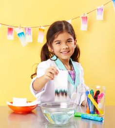 Most colors are made up of several different dyes. Try our neat Mystery Markers science experiment to help your child learn which colors combine to make her favorite!