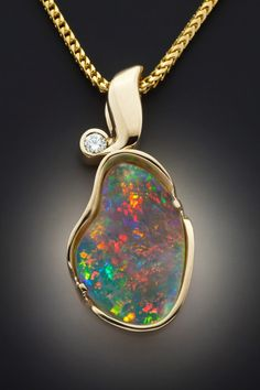 Opal pear - ugly piece of jewelry, beautiful piece of opal