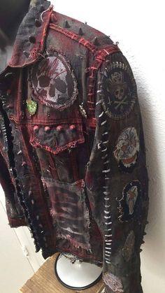 punk fashion X-Jacke von Chad Kirsche image 6 fashion diy Punk Outfits, Mode Outfits, Grunge Outfits, Grunge Fashion, Fashion Outfits, Fashion Fashion, 80s Punk Fashion, Batman Outfits, Hipster Outfits