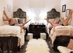 Cute for a Baylor dorm room!! // These dorm rooms defy all traditional standards. Cozy, chic, glam, and spunk—they have it all.