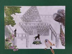 Collage Architectuur Mixed Media, Collage, Painting, Art, Painting Art, Mixed Media Art, Paintings, Kunst, Collage Art