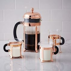 Bodum Copper Coffee Collection #westelm