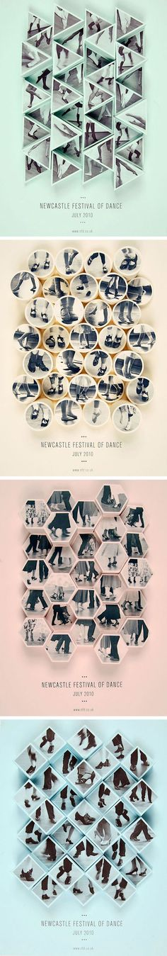 Love these geometric dancing posters!