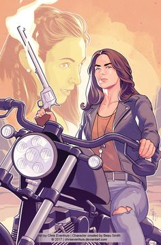 "comic-book-ladies: ""Wynonna & Waverly Earp by Chris Evenhuis """