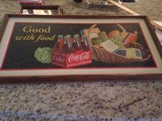 coca cola sign cardboard