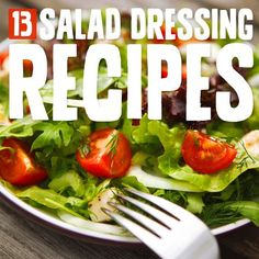 Salads make up a pretty regular part of the Paleo diet plan because you'll want to balance out all of the meat you're eating with a good portion of veggies at each meal. Salad dressings are a great way to make the salad taste better, but pretty. Paleo Recipes, Whole Food Recipes, Cooking Recipes, Paleo Sauces, Recipes Dinner, Potato Recipes, Crockpot Recipes, Soup Recipes, Breakfast Recipes