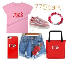 """77Spark"" by hedija011 ❤ liked on Polyvore featuring Vans"