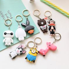 2016 Hot 1pcs Kawaii 9CM PVC Soft Rubber Dolls Action Figures With Keychain For Kids Toys Gift Pendant //Price: $US $0.85 & FREE Shipping //     #rchelicopters