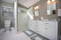 Grey and white bathroom tiles grey and white bathroom contemporary gray white bathroom remodel contemporary bathroom . grey and white bathroom tiles Gray Bathroom Decor, Gray And White Bathroom, White Bathroom Tiles, Simple Bathroom, Bathroom Styling, Bathroom Ideas, Master Bathroom, Bath Tiles, Grey Tiles