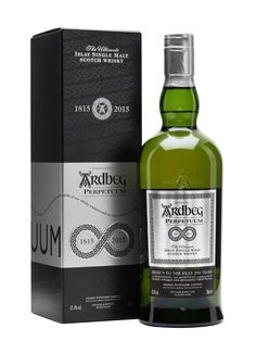 Ardbeg Perpetuum - Limited Edition; only small batches make it into Europe. Released during Feis Ile 2015 to celebrate Ardbeg's 200th anniversary, this is a blend of old and young whisky, matured in both bourbon and sherry casks, delivering the classic Ardbeg note of cured meats, smoke and sea spray. I managed to secure a bottle for myself...
