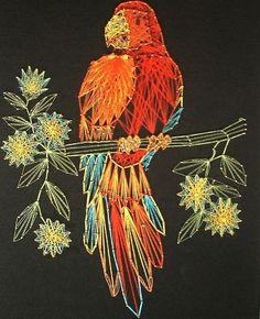 string art parrot