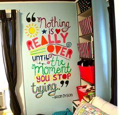 Inspirational wall mural