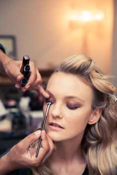 Behind the scenes with FRANK REPS Makeup Artist Serge Hodonou and model Caroline Trentini for the Met Ball 2014.  http://instagram.com/p/nqfrQSuA2S/