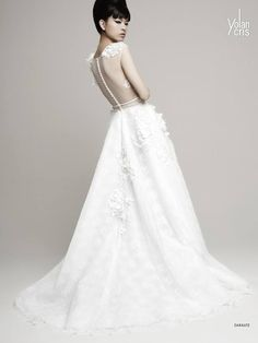 Sophisticated YolanCris #Wedding Dresses 2014 Collection. To see more: http://www.modwedding.com/2013/09/27/sophisticated-yolancris-wedding-dresses-2014-collection/ #weddingdress #weddingdresses