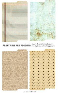 Printable file folders!
