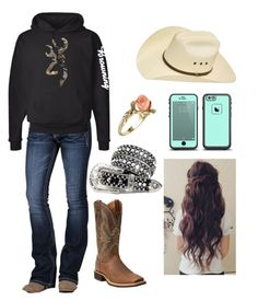 """""""Bonfire with Friends"""" by shelbydog1162 ❤ liked on Polyvore featuring Miss Me, Vintage and Ariat"""