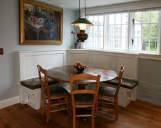 built in seating for table. Eclectic Kitchen Breakfast Nook Design, Pictures, Remodel, Decor and Ideas - page 6