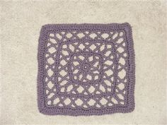 Chain Reaction Afghan Project Slideshow - Crochet Me  *** Very interesting and unique open work square!  I MUST TRY THIS ONE!!!