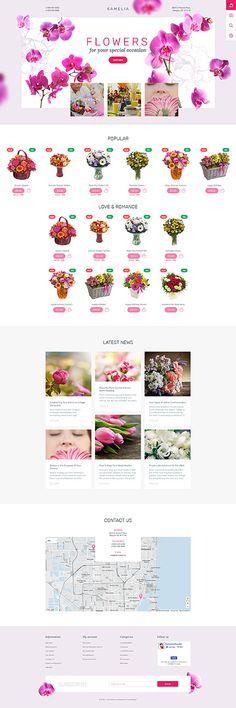 Template 57810 - Flower Online PrestaShop  Theme