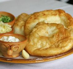 Hungarian traditional Fried Dough Lángos Langos by EmeseBoutique, Hungarian Sausage Recipe, Hungarian Recipes, Kefir Recipes, Cooking Recipes, Hungarian Cuisine, Bread And Pastries, Food And Drink, Favorite Recipes, Yummy Food