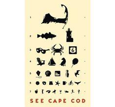 Cape Cod Eye Chart > Store > Inkwell Studios
