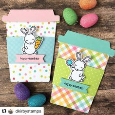 """1,183 Likes, 17 Comments - Simon Says Stamp (@simonsaysstamp) on Instagram: """"These are eggstra cute! ☕️ #Repost @dkirbystamps ・・・ Made a few gift card holders with my…"""""""