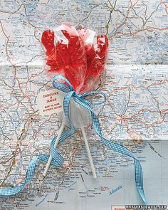 Guests are sure to grin when they receive a pair of bright-red lobster lollipops, playful versions of a seaside icon. Candy Wedding Favors, Candy Favors, Wedding Favors Cheap, Wedding Gifts, Nautical Wedding, Trendy Wedding, Nautical Baby, Nautical Theme, Perfect Wedding
