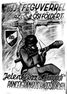 The poster urges Hungarian youth between ages 17 to Ww2 Propaganda Posters, Ww1 History, Jewish Men, Ww2 Photos, Vintage Posters, Vintage Signs, Old World, World War, Wwii