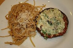 Cheese- and Spinach-Stuffed Portobellos