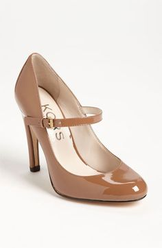 Camel may jane pump by MK! LOve him! KORS Michael Kors 'Galli' Pump | Nordstrom- Would be perfect in black for Speech and Debate! So professional.