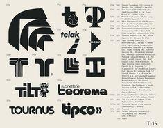 Eric Carl Collection of vintage logos from a edition of the book World of Logotypes jpg Logos Trademark Symbol, Logo Luxury, Vintage Logo Design, Vintage Logos, Health Images, Creative Logo, Creative Typography, Logo Images, Graphic Design Typography