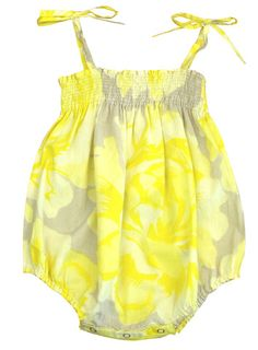 handprinted sunsuit
