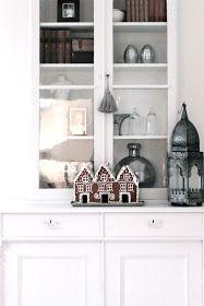 Gingerbread house decor - fru N och villa Någorlunda