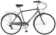 Schwinn Wayfarer Men's Bicycle, Grey, Schwinn retro style steel frame and fork. Swept back handlebars for upright riding position. Schwinn 7 speed derailleur for smooth shifts. Mountain Bike Shoes, Mountain Bicycle, Specialized Bikes, Buy Bike, Road Bike Women, Bicycle Maintenance, Cool Bike Accessories, Bike Reviews, Bike Rack