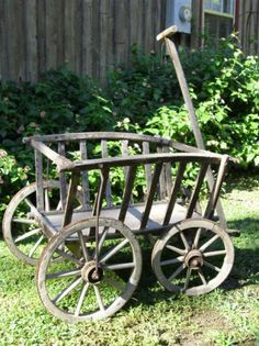 antique cart - I keep looking for one to help carry groceries from the car to the house. The old red wagon doesn't have high enough sides.