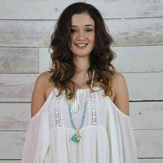 Pranella Turquoise Necklace With Tassel & Gold Hand Available Instore And Online At Pink Cadillac www.pinkcadillac.co.uk