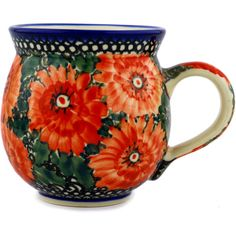 Polish Pottery 12 oz Bubble Mug | Boleslawiec Stoneware | Polmedia H8791C
