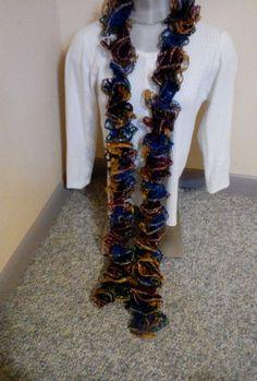Women's  handmade knitted embellishment Ruffle Scarf NEW #Handmade #Scarf #ValentinesDay