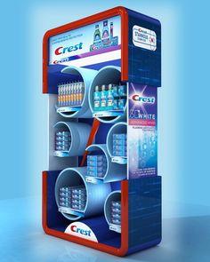 CREST Display Stand 180x100x40 cm on Behance