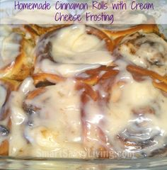 homemade cinnamon rolls with cream cheese frosting #recipe