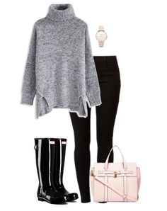 Black Hunter Boots Outfit: No matter if it's raining or snowing, these Hunter boot outfit ideas will keep you warm, dry and stylish.