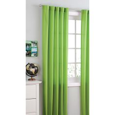 lime green curtains  your zone microfiber panels, set of 2