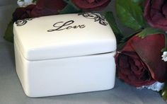 Ceramic Love Keepsake Box by GrapeVineCeramicsGft on Etsy, $15.00