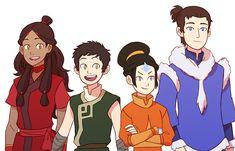 Katara as a firebender, Aang as an earthbender, Toph as an airbender and Zuko as a waterbender. It's weird that Zuko is even hotter as a waterbender Avatar Airbender, Avatar Aang, Suki Avatar, Team Avatar, Avatar Funny, Geeks, Avatar World, Water Tribe, Voltron Comics