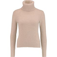 N.Peal Cashmere Cashmere turtleneck sweater (€200) ❤ liked on Polyvore featuring tops, sweaters, long sleeves, sand, turtleneck, polo neck sweater, turtle neck top, pink turtleneck, turtle neck sweater and cashmere sweater