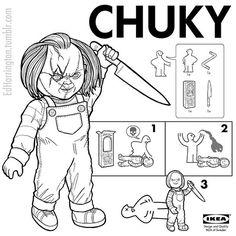 Your favorite movie villains are now IKEA instruction manuals | Dangerous Minds